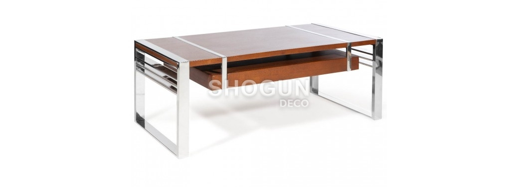 Table basse Time Square - finition noyer