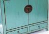 Buffet chinois bleu 2 portes et 2 tiroirs