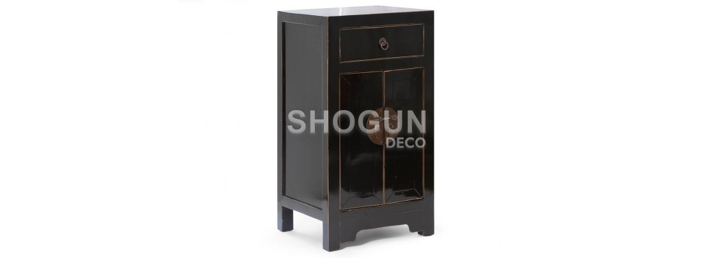 Meuble d'appoint chinois - 2 portes 1 tiroir