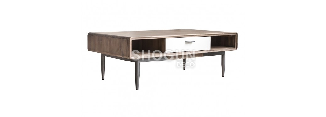 Table basse blanche Alba - 120cm