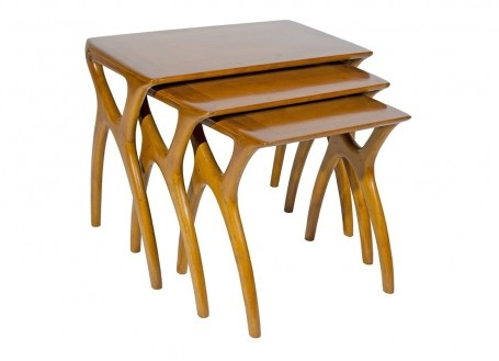 Set de 3 tables gigognes Crabe