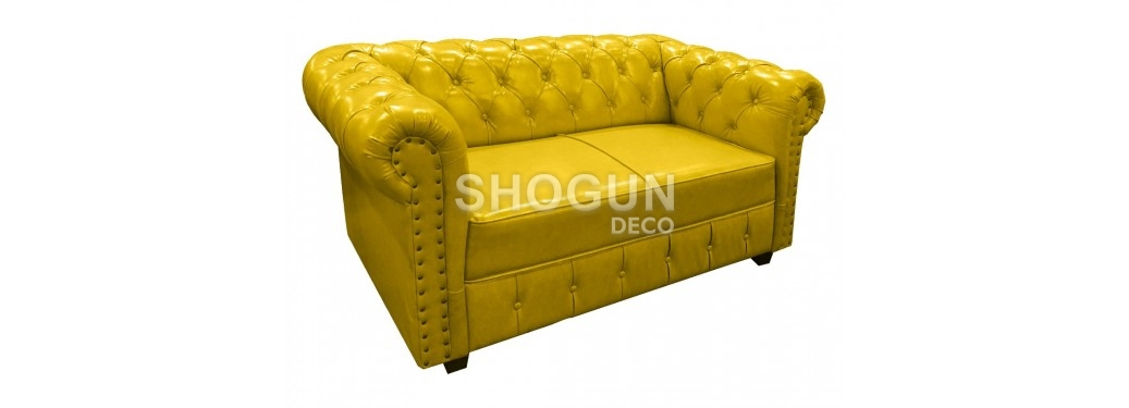 Canapé Chesterfield - Jaune