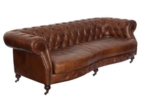 Canapé cuir Chesterfield Zola - 3/4 face