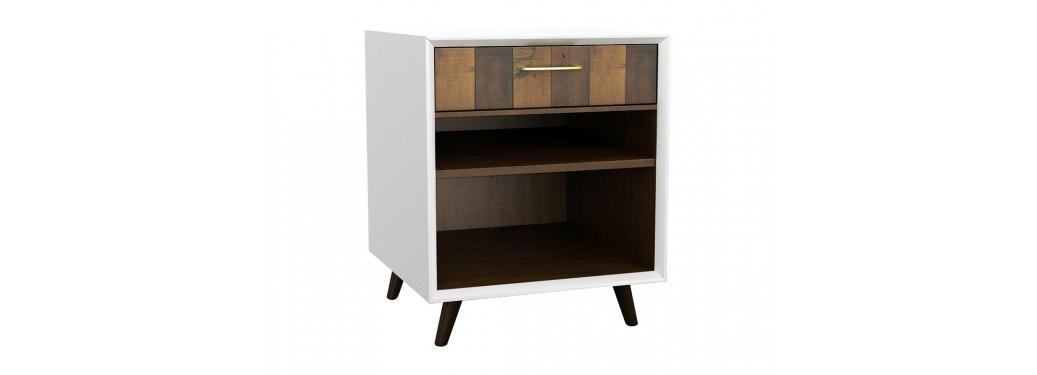 Chevet design Surya - 1 tiroir et 2 tablettes