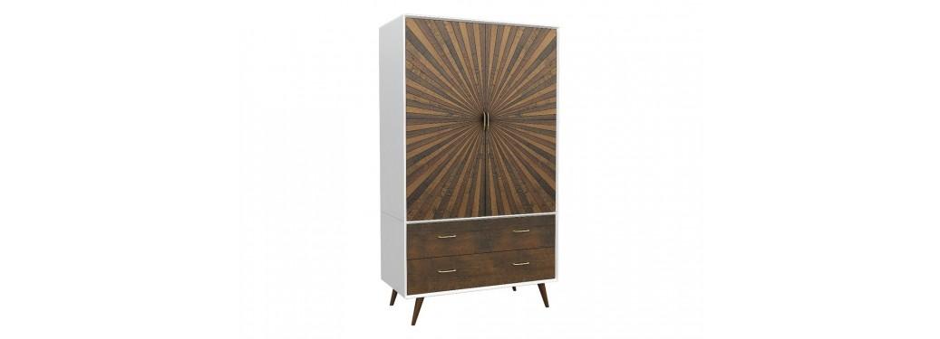 Armoire / dressing design Surya - 2 portes et 2 tiroirs