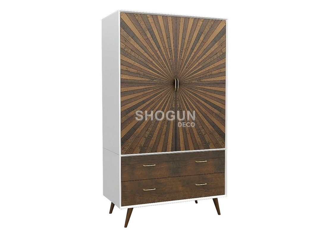 armoire dressing design en bois massif ch ne finition laqu e blanche. Black Bedroom Furniture Sets. Home Design Ideas