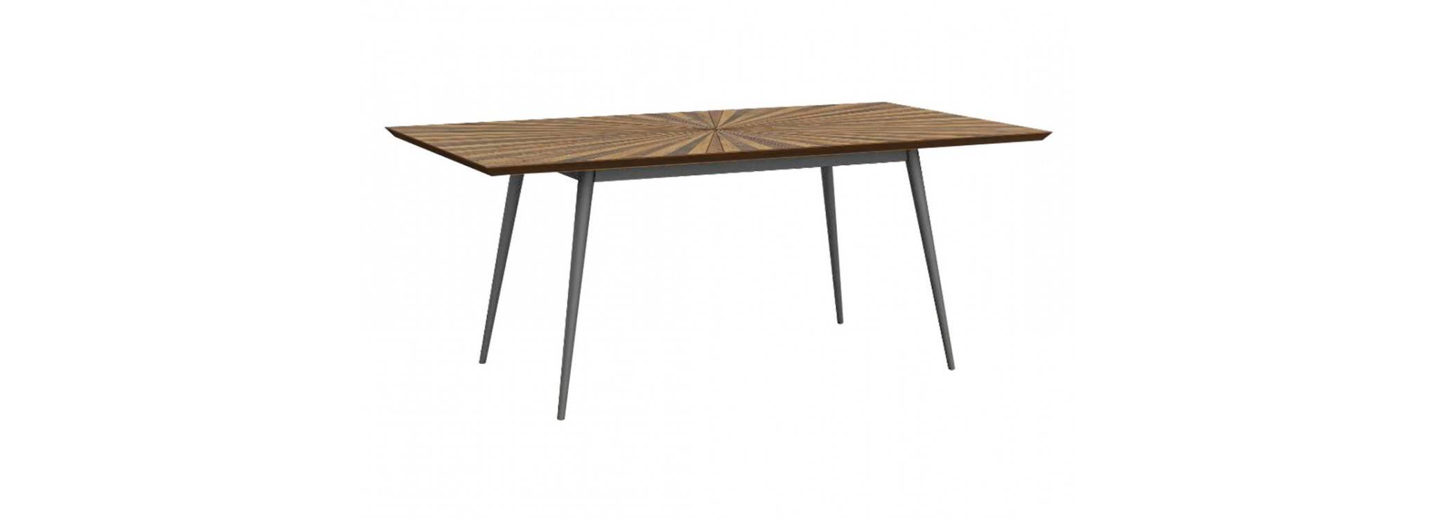 Table de repas rectangulaire avec allonge Surya - 180/240cm