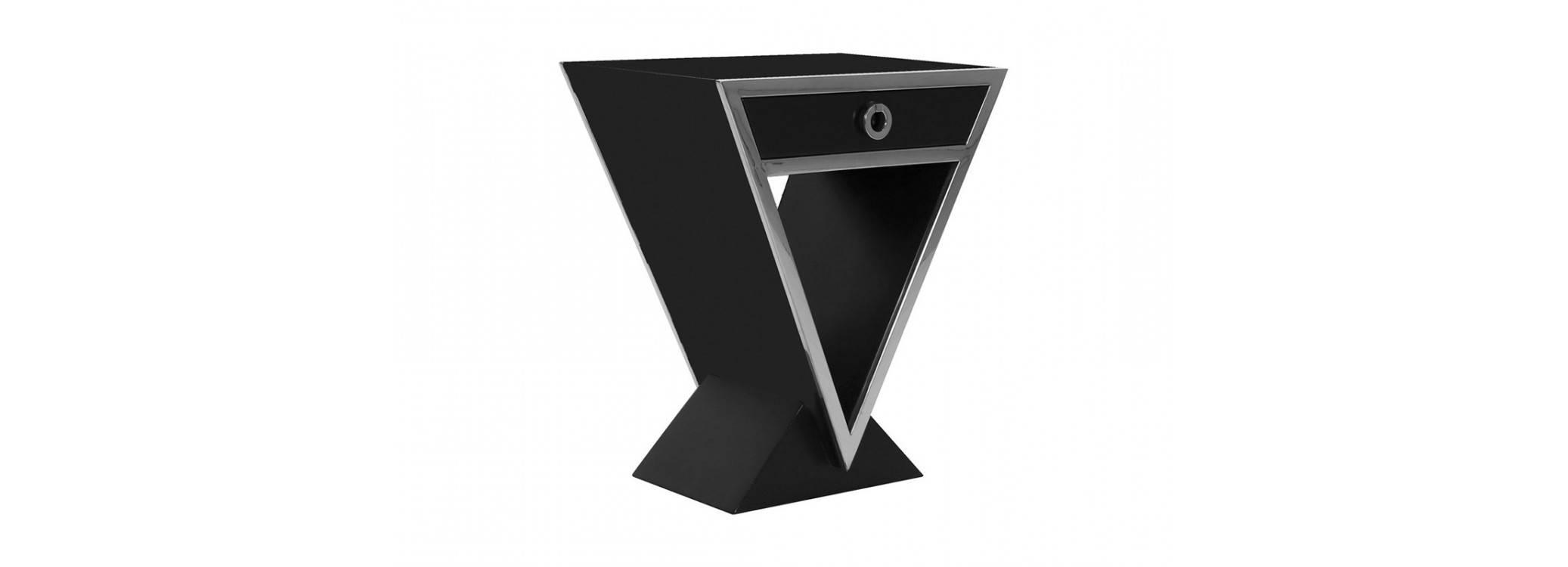 Chevet Delta - finition noire