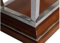 Bout de canapé rectangulaire Montaigne , plateau en verre