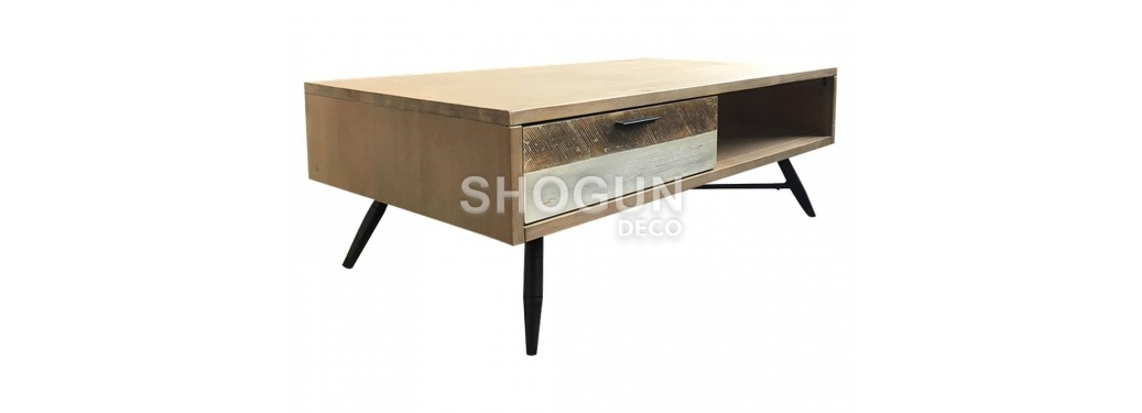 Table basse Havana - 2 tiroirs et une niche