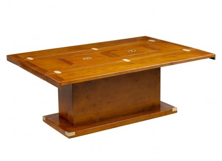 Table basse abattants marine Glasgow - L115cm