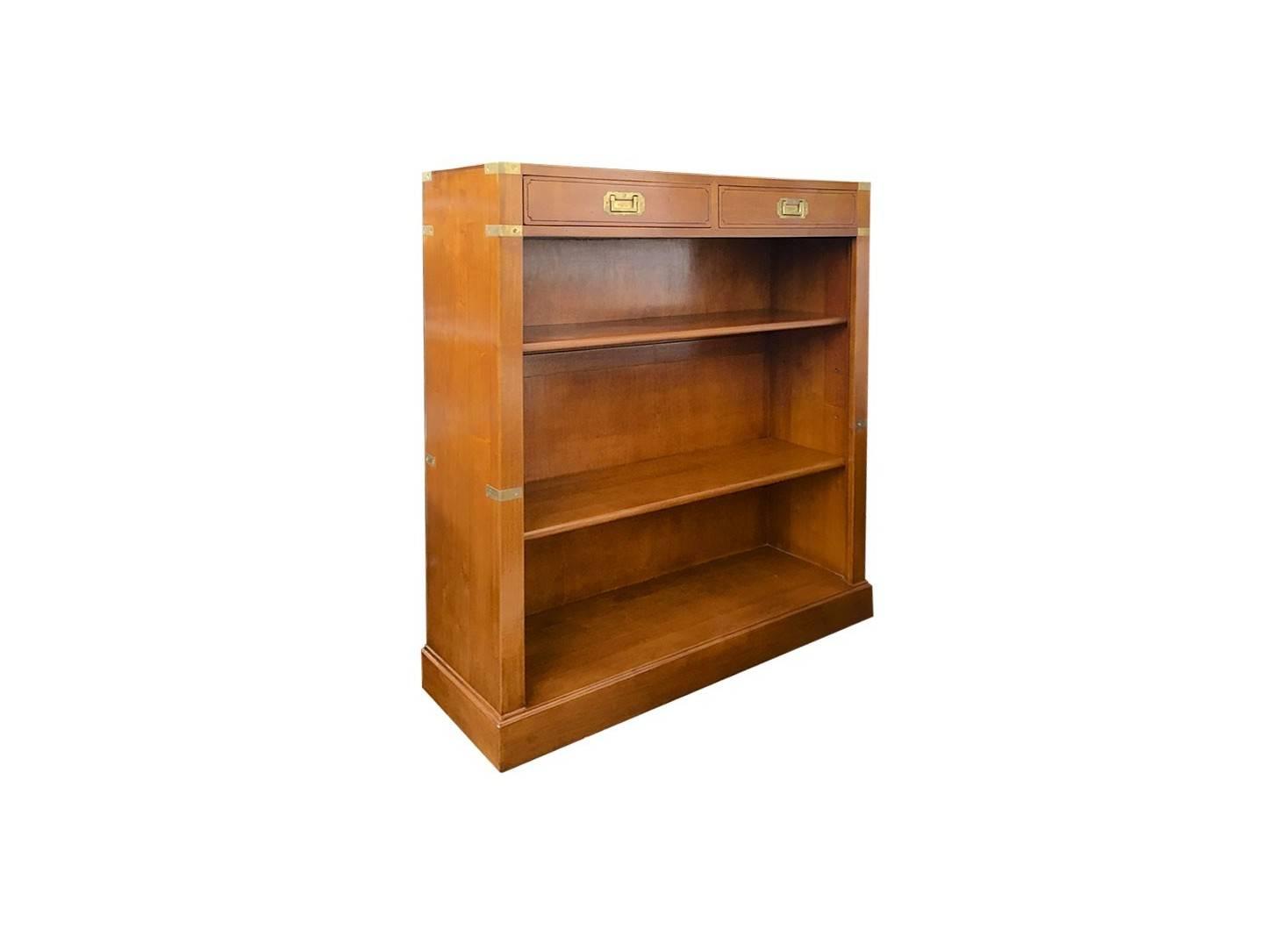 Low bookshelf in marine style