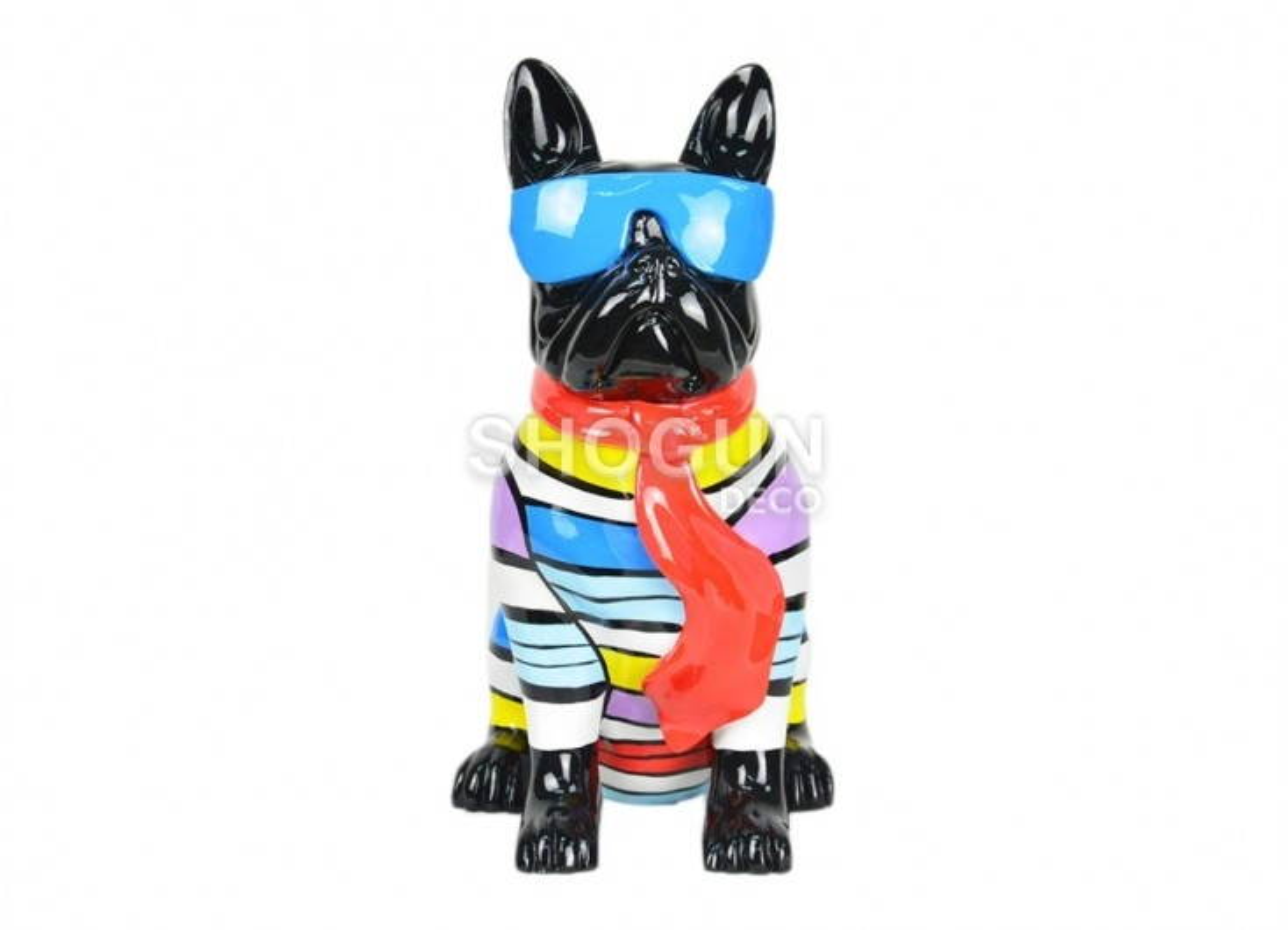 French bulldog statue