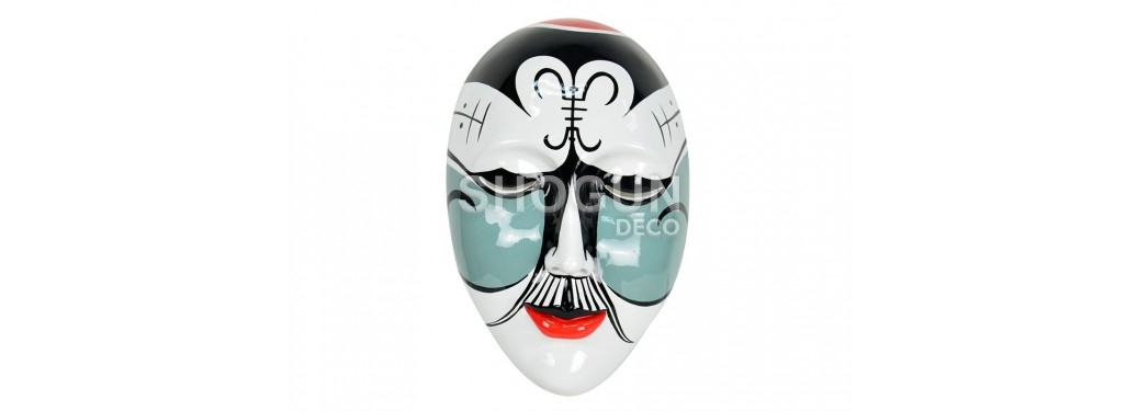 Masque mural, résine peinte
