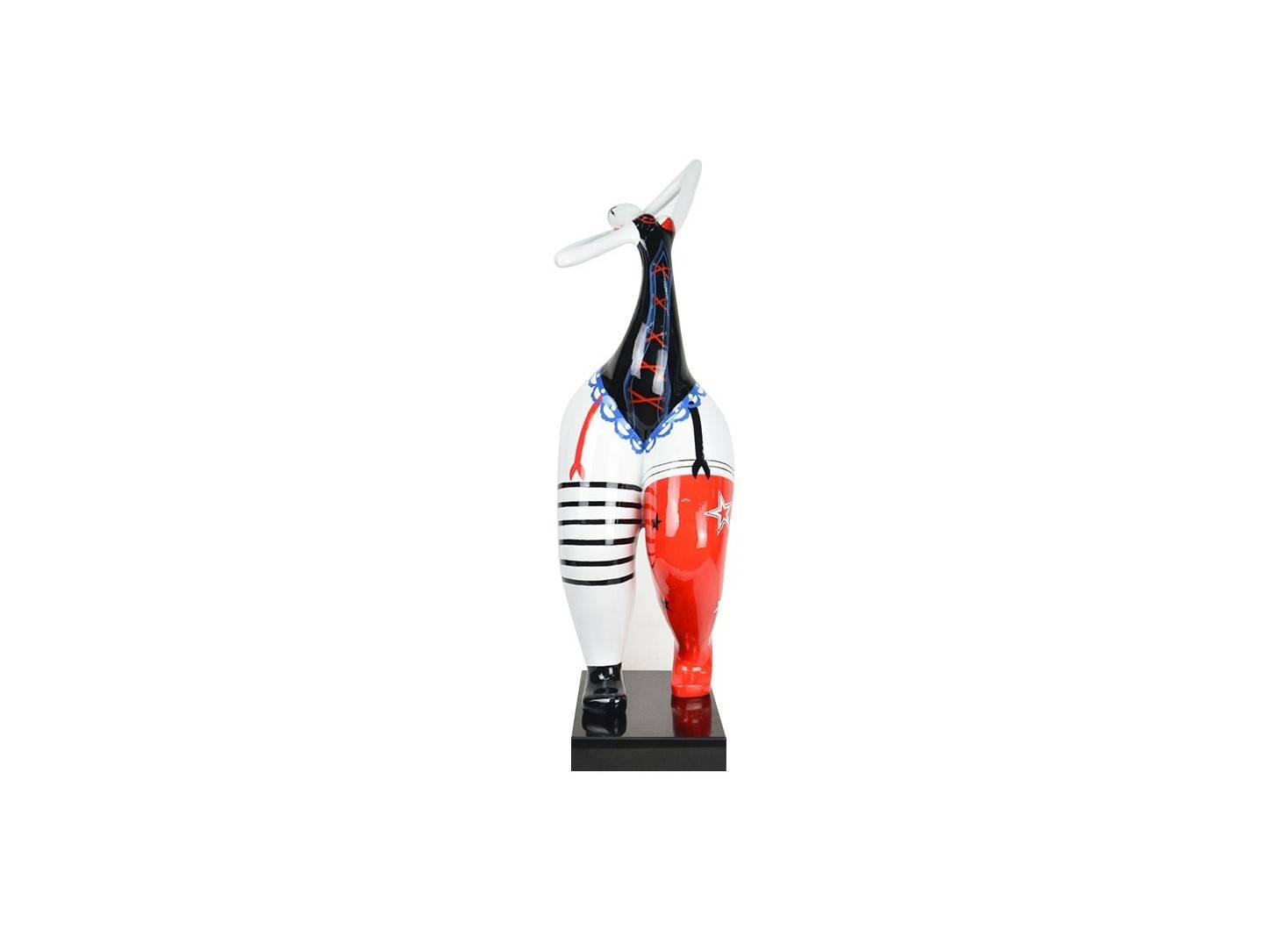 Woman statue wearing lingerie in resine