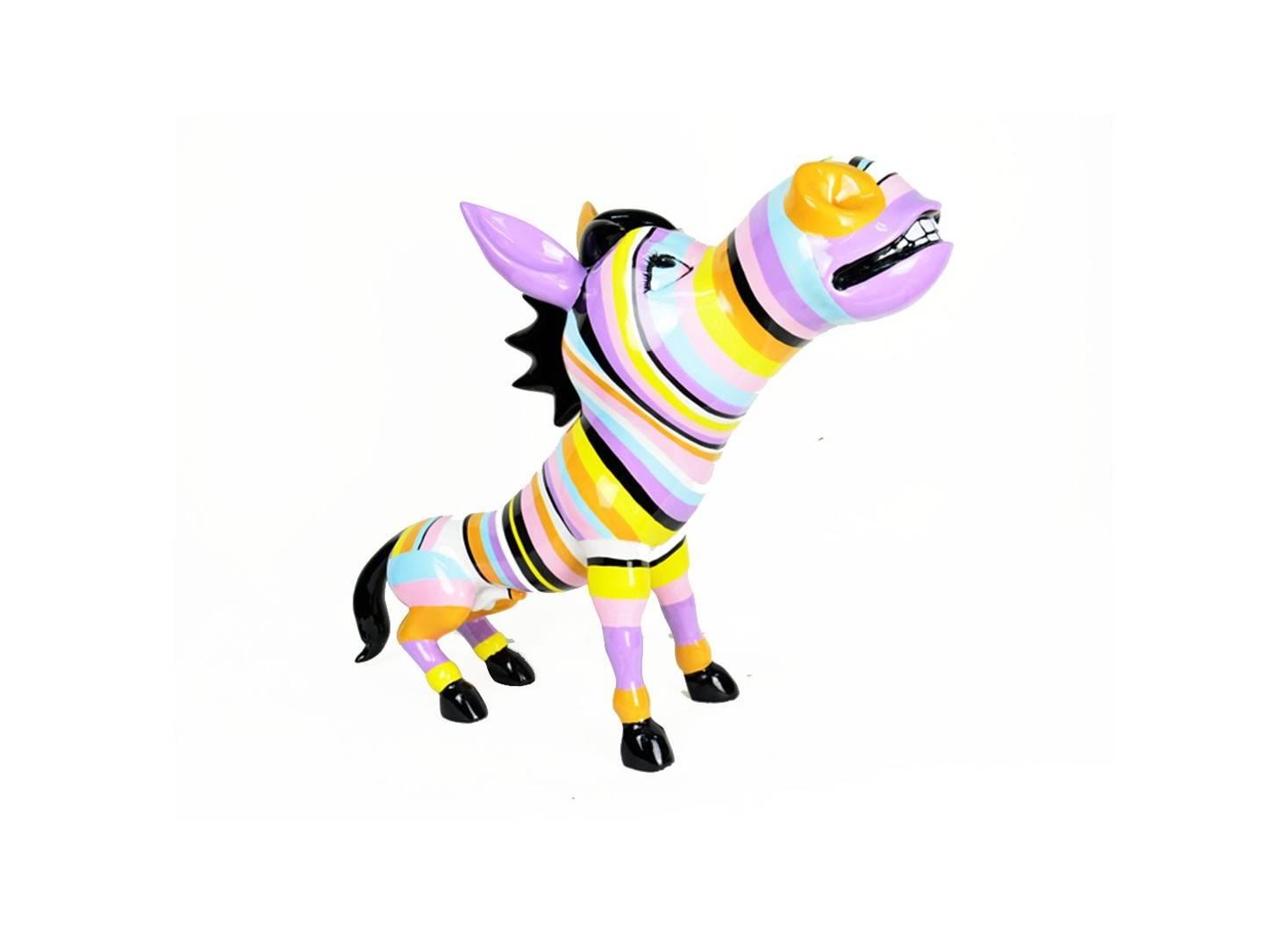 Colourful donkey statue