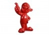 Thumbs up red baby statue