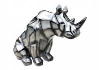 Statue de rhinocéros cubique style origami