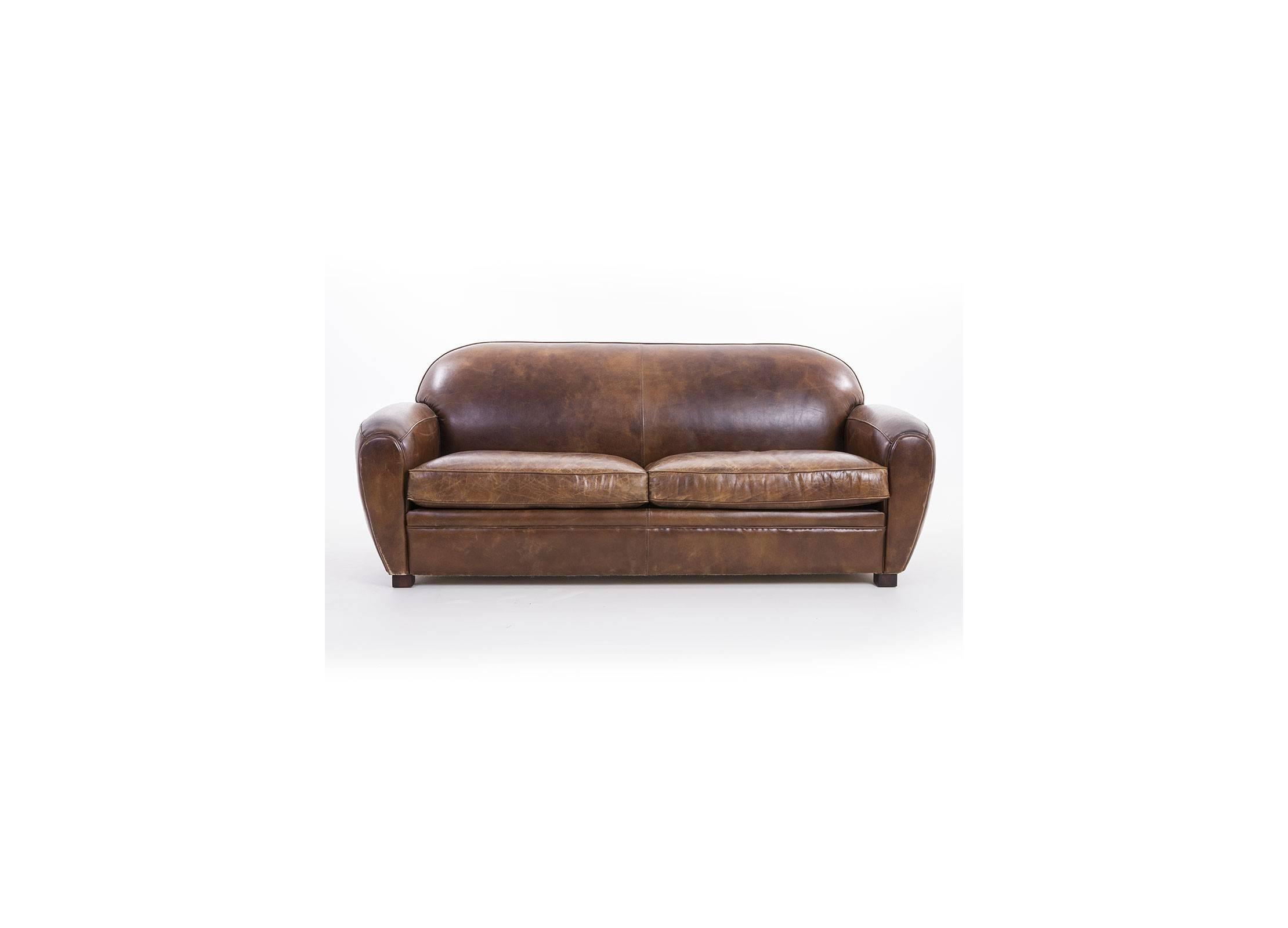 canap club churchill marron cigare 3 places cuir de vachette pleine fleur structure et. Black Bedroom Furniture Sets. Home Design Ideas