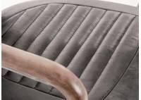Fauteuil de bureau cuir vintage - H84 cm
