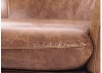 Fauteuil club Rubis cuir marron - L73 cm