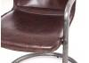 Chaise en cuir vintage et métal - L54 cm