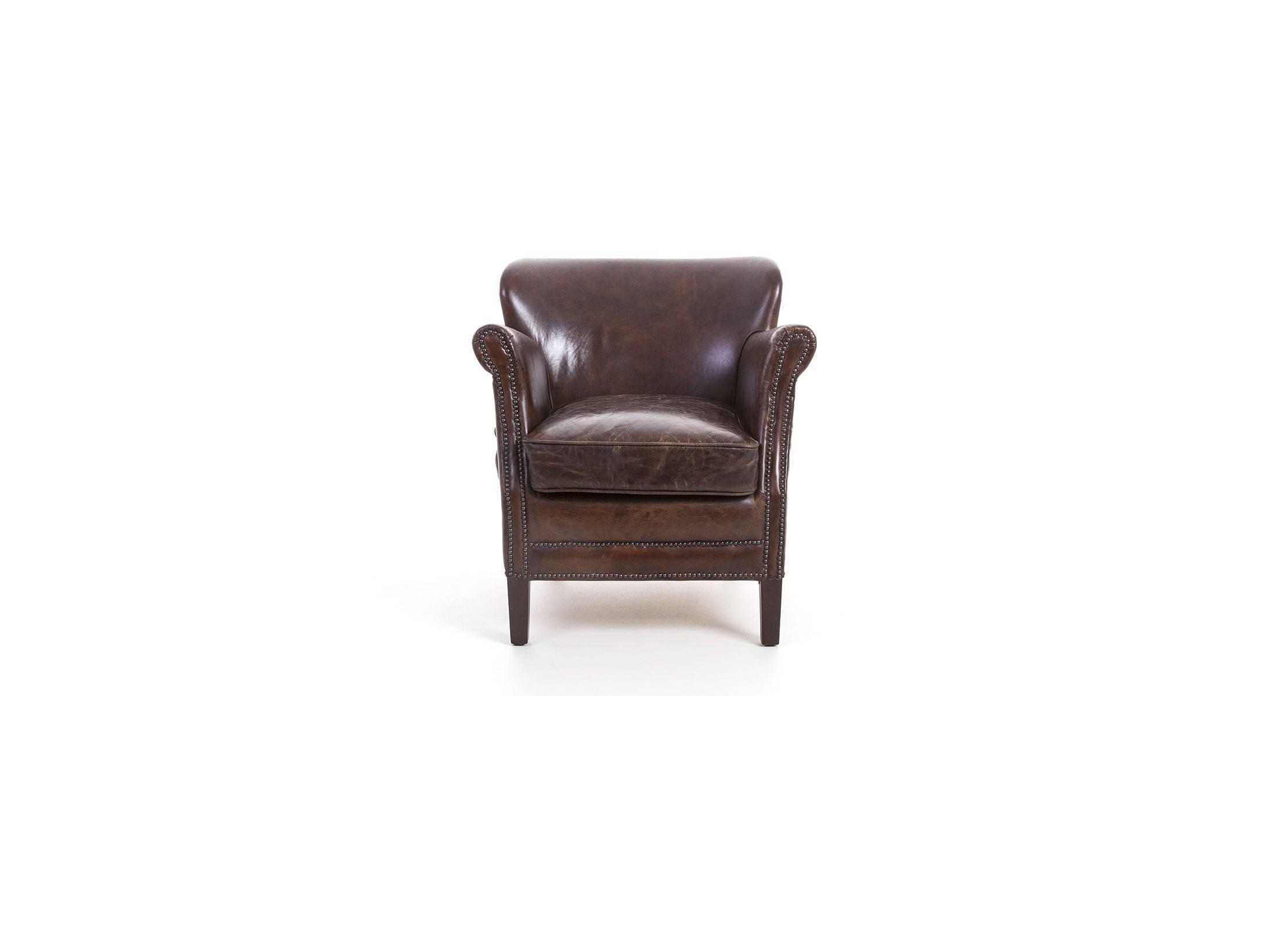 fauteuil club tolkien en cuir marron vintage. Black Bedroom Furniture Sets. Home Design Ideas