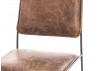 Chaise de bureau en cuir vintage et métal noir - L44 cm