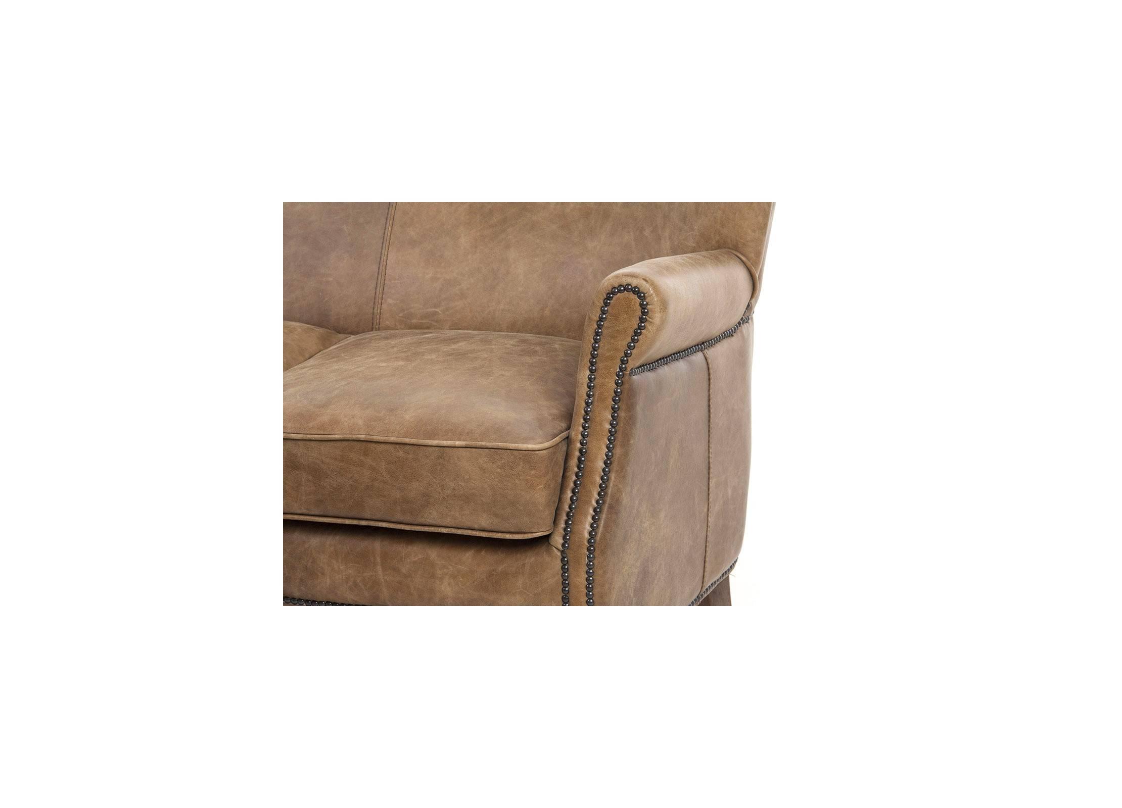 canap club 2 places en cuir marron vintage de qualit. Black Bedroom Furniture Sets. Home Design Ideas