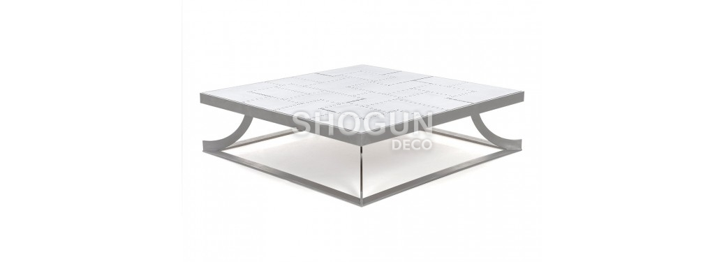 Table basse carré Aéro en aluminium