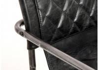 Chaise cuir vintage H83 cm