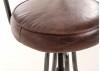 Tabouret de bar cuir vintage - H100 cm