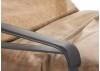 Fauteuil confort en cuir caramel et métal