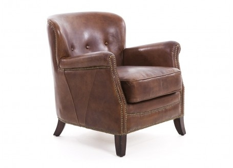 Hemingway Club armchair - brown leather