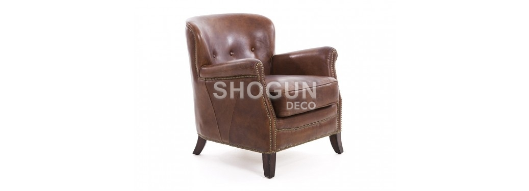 Club Armchair Hemingway - Brown leather