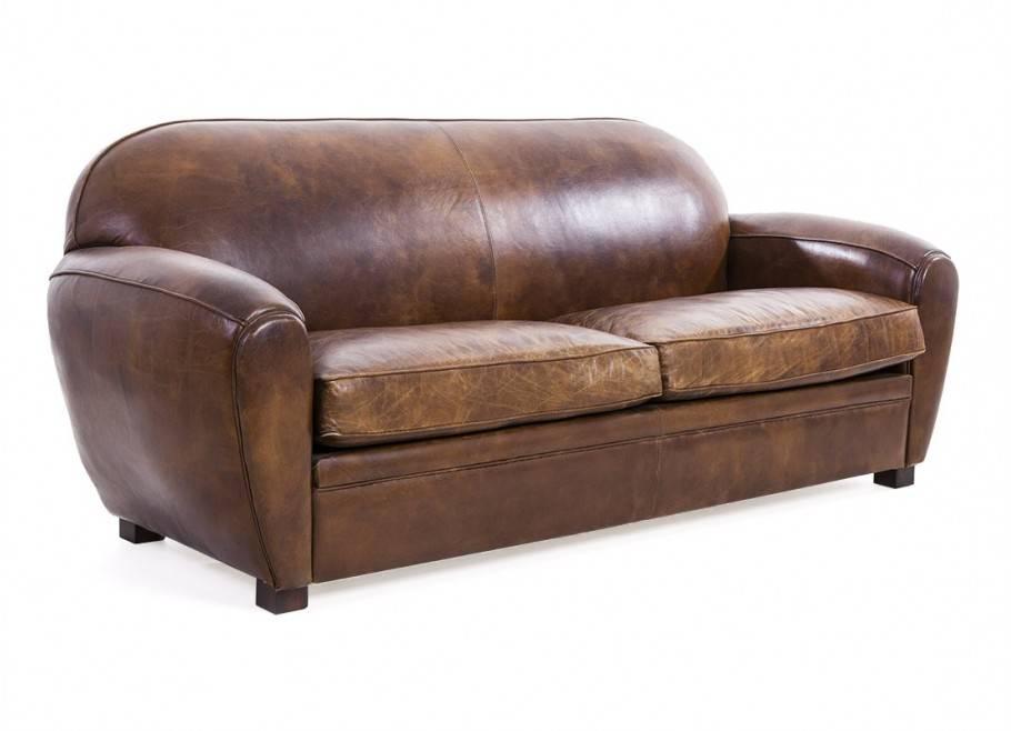 Canapé club 3 places Churchill en cuir vintage