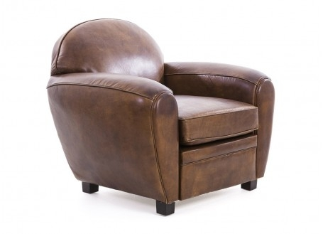 Fauteuil club Churchill - Cuir marron