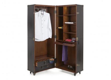 Malle garde robe Cap Horn - Grand modèle - Simili cuir croco blanc