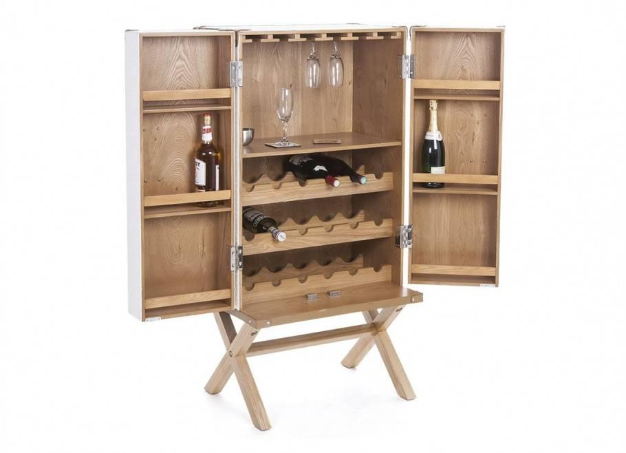 Malle bar à vin sur stand