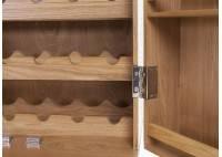 Malle bar sur stand - Petit modèle - Simili cuir croco blanc