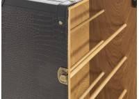 Malle à chaussures - Simili cuir croco marron foncé