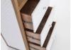 Bibliotheque de voyage Cap Horn tissu matelasse blanc