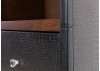 Etagère Cap Horn faux croco marron foncé