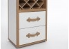 Malle bar / présentoir vins et liqueurs Cap Horn simili cuir croco blanc