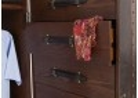 Armoire dressing Cap Horn simili cuir croco marron foncé