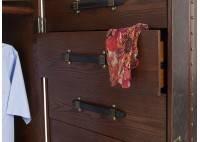 Armoire dressing Cap Horn simili cuir marron moiré