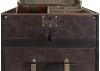 Malle chiffonnier Cap Horn - 4 tiroirs - Simili cuir marron fonce