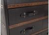 Commode Cap Horn - 6 tiroirs - Simili cuir croco marron foncé