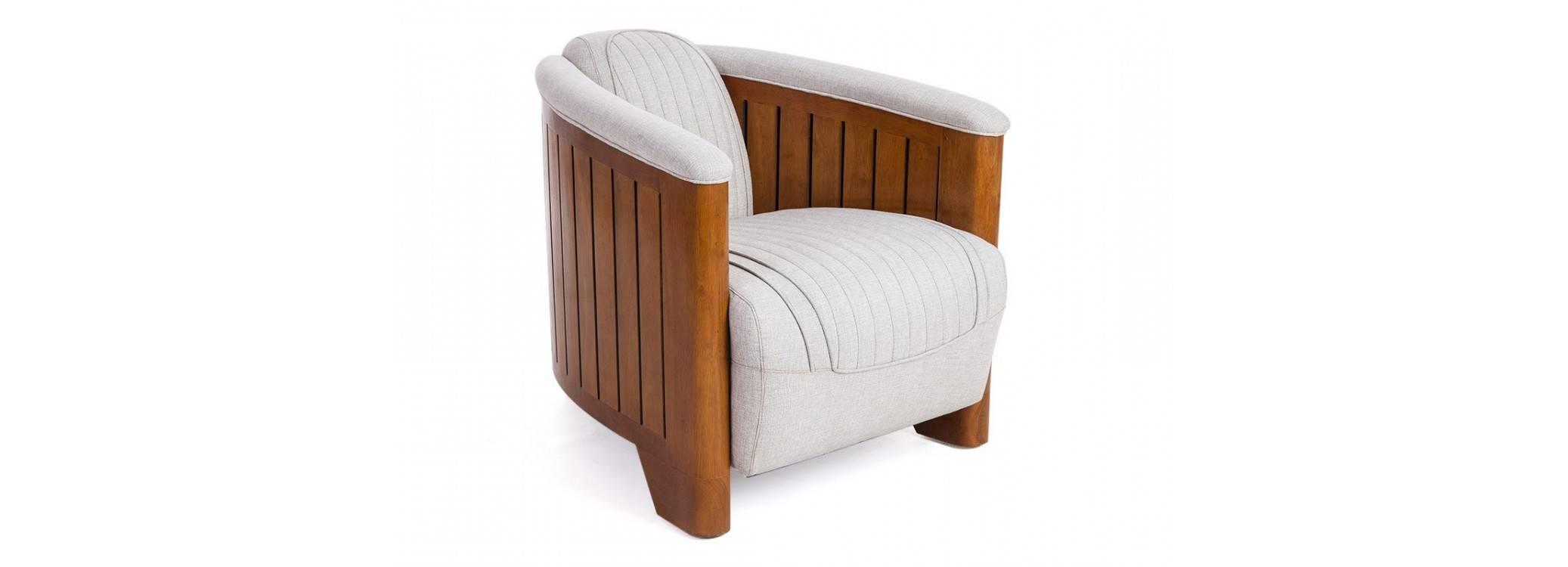 Canoë armchair - Beige fabric
