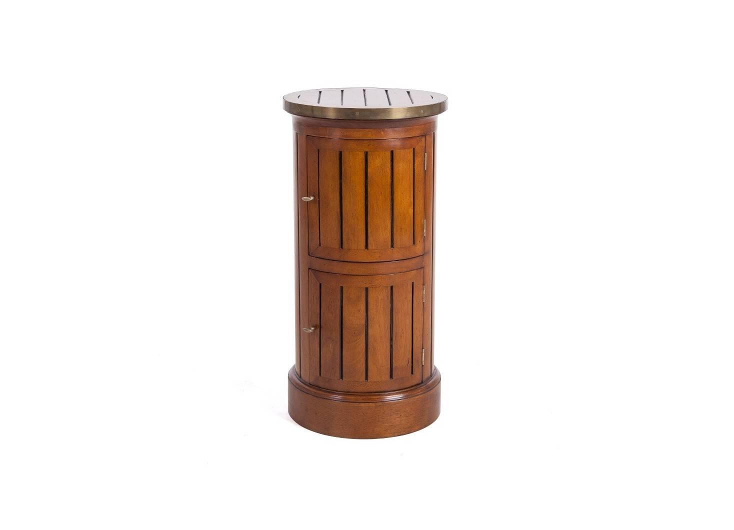 Somno / Meuble d'appoint 2 portes canoe avec plateau en cuivre